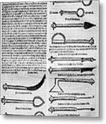 Medical Instruments, 1531 Metal Print