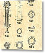 Medical Syringe Patent 1954 Metal Print