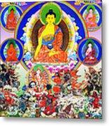 Medicine Buddha 12 Metal Print