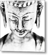 Medicine Buddha Monochrome Metal Print