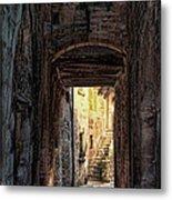 Medieval Alley Metal Print