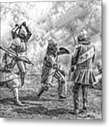Medieval Battle Metal Print