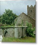 Medieval Church And Churchyard Metal Print