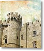 Medieval City Of Rhodes Metal Print