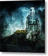 Medieval Crusader Metal Print by Jaroslaw Grudzinski
