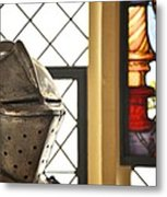 Medieval Helmet Metal Print