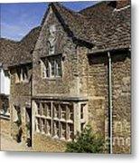 Medieval Houses In Lacock Village Metal Print