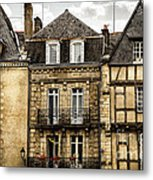 Medieval Houses In Vannes Metal Print by Elena Elisseeva