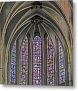 Medieval Stained Glass Metal Print