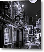 Medieval Street In York Bw Metal Print