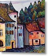 Medieval Village Of St. Ursanne Switzerland Metal Print