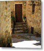 Medieval Village Street Metal Print by Lainie Wrightson