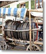 Medieval Wagon Used For Transporting Wine Metal Print by Elzbieta Fazel