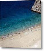 Mediterranean Coastal Scene Metal Print