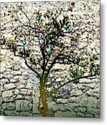 Mediterranean Garden With An Old Wall Metal Print by Arsenije Jovanovic