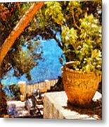 Mediterranean Steps Metal Print by Pixel Chimp