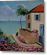 Mediterranean Villa Metal Print by Stefon Marc Brown