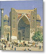 Medrasah Shir-dhor At Registan Place In Samarkand, 1869-70 Oil On Canvas Metal Print
