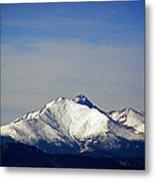 Meeker And Longs Peak Massive In Snow Metal Print