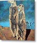 Meerkats Metal Print
