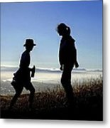 Meet At The Top Of The World Metal Print