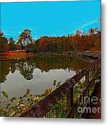 Meet Me On The Bridge Metal Print