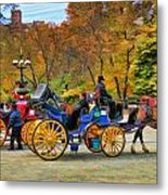 Meeting Of The Carriages Metal Print