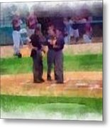 Meeting Of The Umpires Photo Art Metal Print