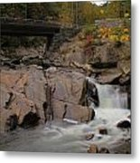 Meigs Falls In Autumn Metal Print