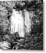 Meigs Falls Smoky Mountains Bw Metal Print