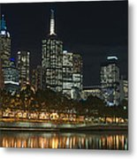 Melbourne Cbd And Yarra Metal Print