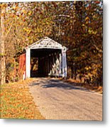 Melcher Covered Bridge Parke Co In Usa Metal Print