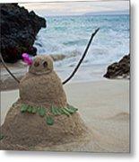 Mele Kalikimaka Merry Christmas From Paako Beach Maui Hawaii Metal Print