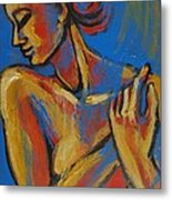 Mellow Yellow- Female Nude Portrait Metal Print