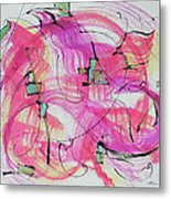 Melody In Magenta   Insight Comes Metal Print