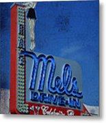 Mels Drive In Celebrity Bar Metal Print by Janice Rae Pariza