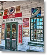Mel's Filling Station Metal Print