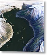 Melting Glacier 3 Of 3 Metal Print
