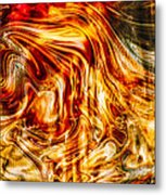 Melting Gold Metal Print