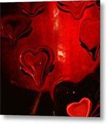 Melting Hearts Metal Print
