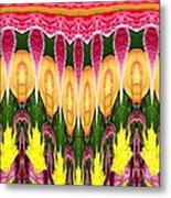 Melting Lily And Chrysanthemums Abstract Metal Print