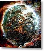 Melting Planet Metal Print