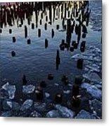 Melting River Metal Print