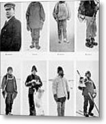 Members Of The British Antarctic Expedition At The Start Of The Journey Metal Print