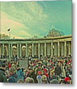 Memorial Amphitheater At Arlington National Cemetery Metal Print by Tom Gari Gallery-Three-Photography