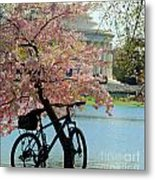 Memorial Bicycle Metal Print