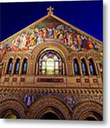 Memorial Church At Night Metal Print
