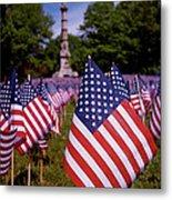 Memorial Day Flag Garden Metal Print