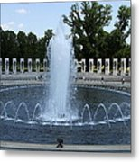 Memorial Fountain Washington Dc Metal Print