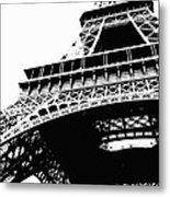 Eiffel Tower Silhouette Metal Print